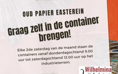 Oud papier – Graag zelf in de containers brengen